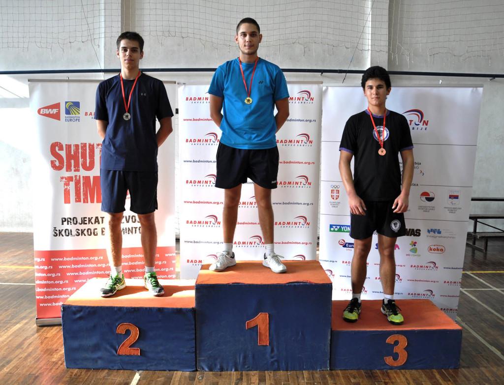 badminton Nemanja Ubavić 1 mesto