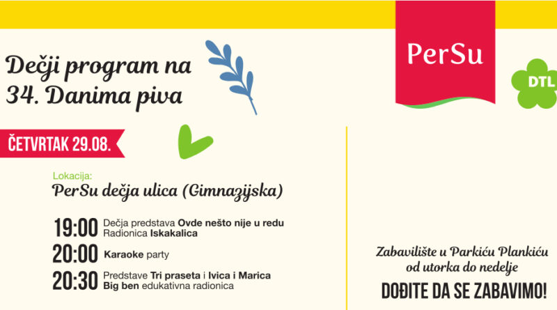 """PERSU"" DEČJI PROGRAM ZA ""DANE PIVA"": Predstave, radionice i žurke"