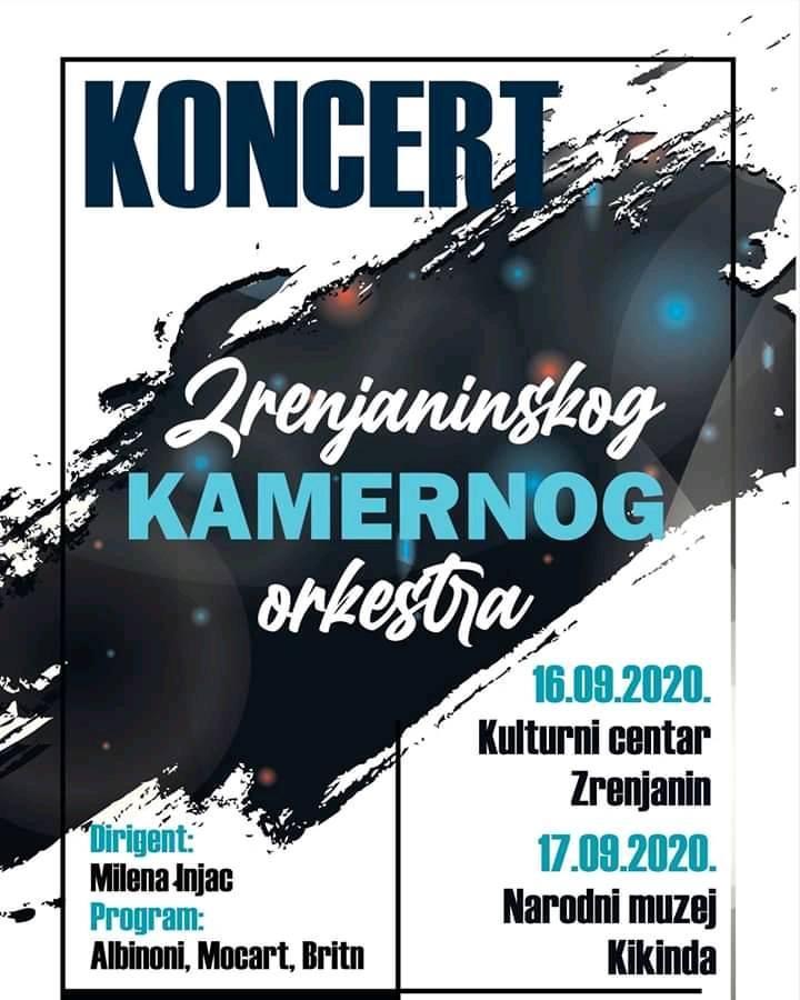 KONCERT ZRENJANINSKOG KAMERNOG ORKESTRA: Na repertoaru dela Mocarta, Albinonija i Britna