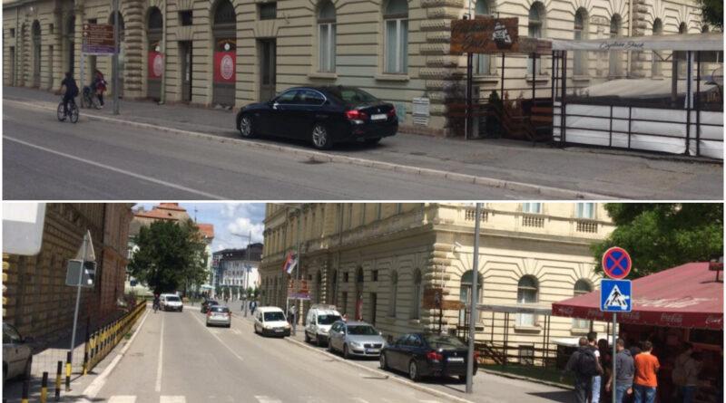 CENTAR GRADA: Uobičajeno parking mesto