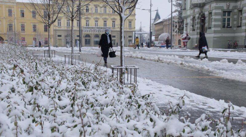 SNEŽNI DAN: Zrenjanin ogrnut belim pokrivačem