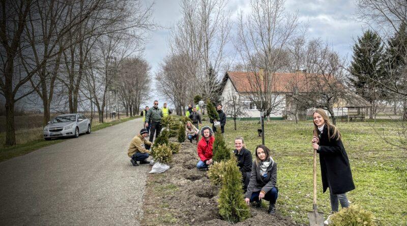 """AERODROM """"EČKA"""" ZA ČISTIJI VAZDUH: Zasadili više od 60 stabala"""