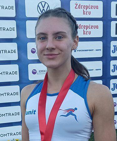 Mlada sportistkinja Andrea Sremac