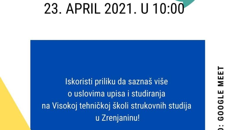 "VISOKA TEHNIČKA ŠKOLA: ""OTVORENA VRATA""- VIRTUELNO"