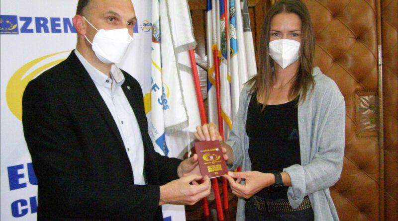 USPEH ZA PONOS: Jovana Arsić gošća gradonačelnika